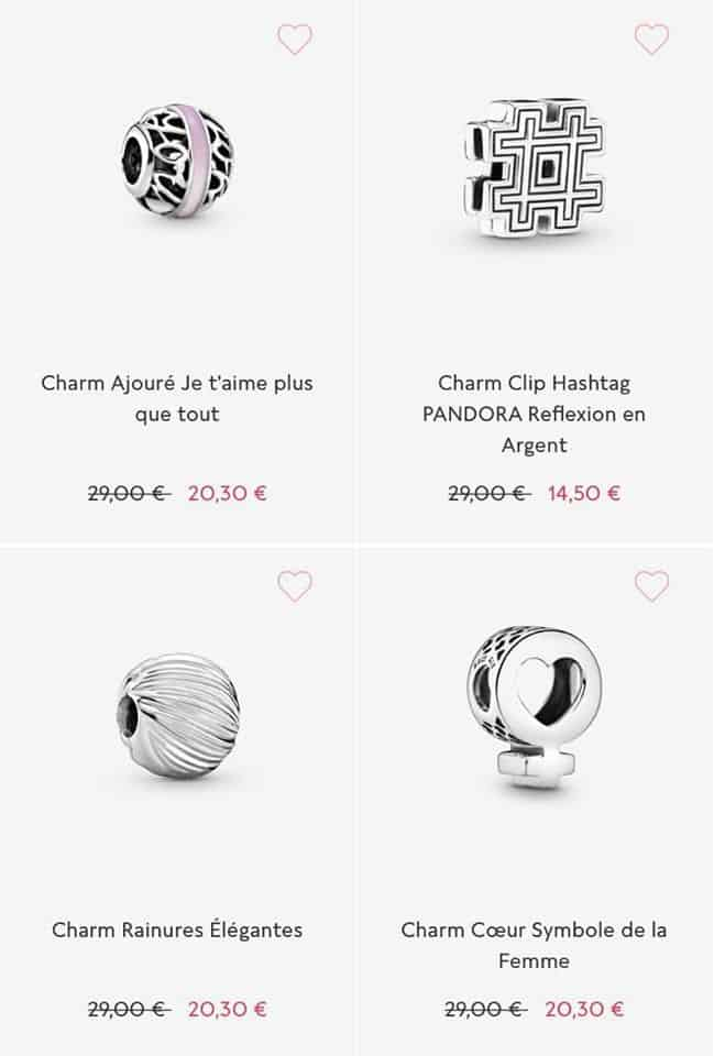 Charms soldes Pandora