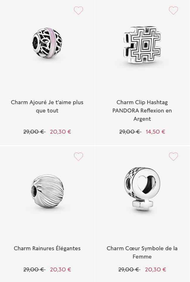 Charms soldes Pandora