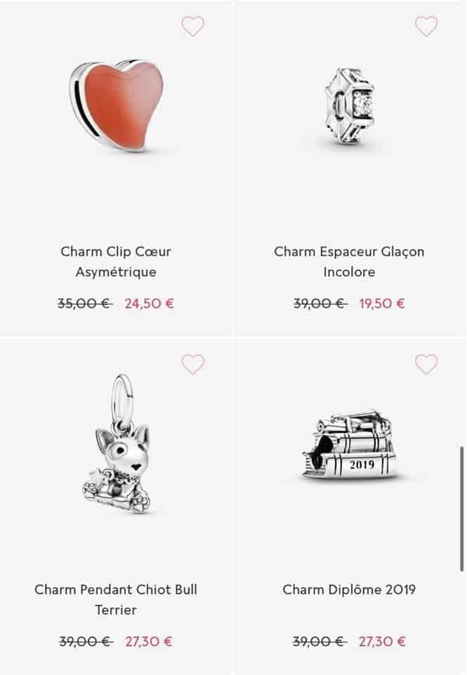 Les Charm soldes Pandora 2020