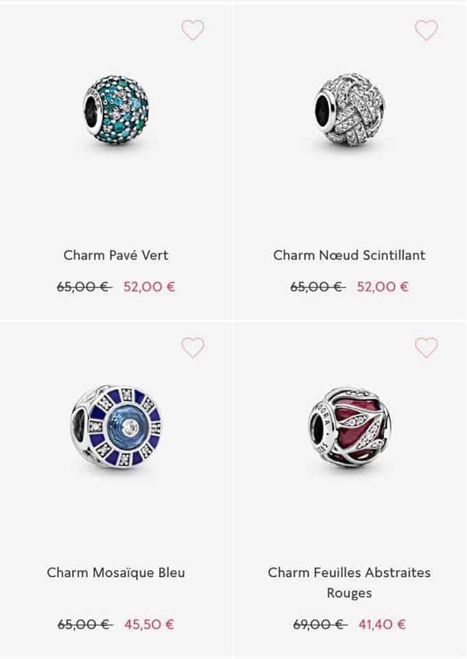 Les charms soldes Pandora 2020