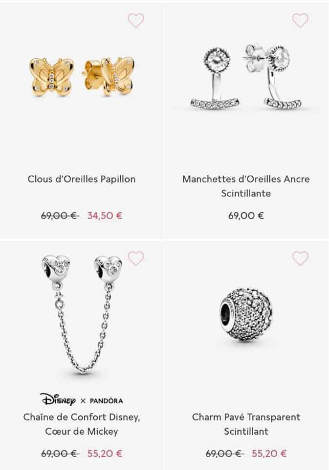 Les bijoux soldes Pandora 2020