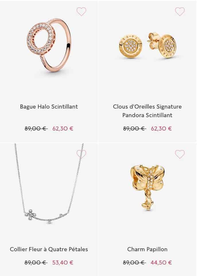Bijoux soldes Pandora 2020