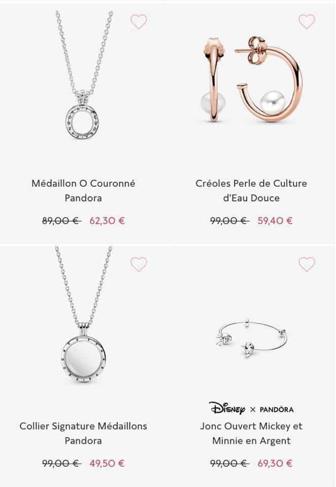 Colliers soldes Pandora 2020