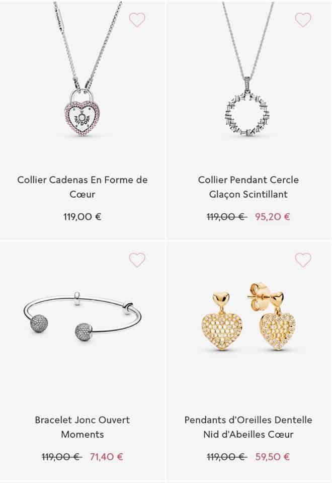 Colliers Pandora Soldes 2020