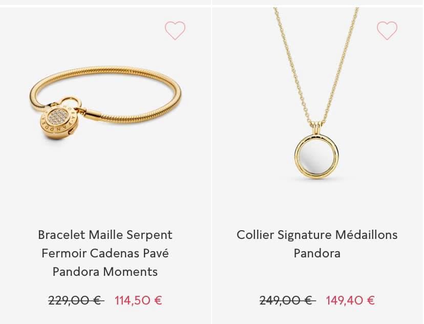 Bracelet moment et collier Shine médaillon Soldes Pandora 2020