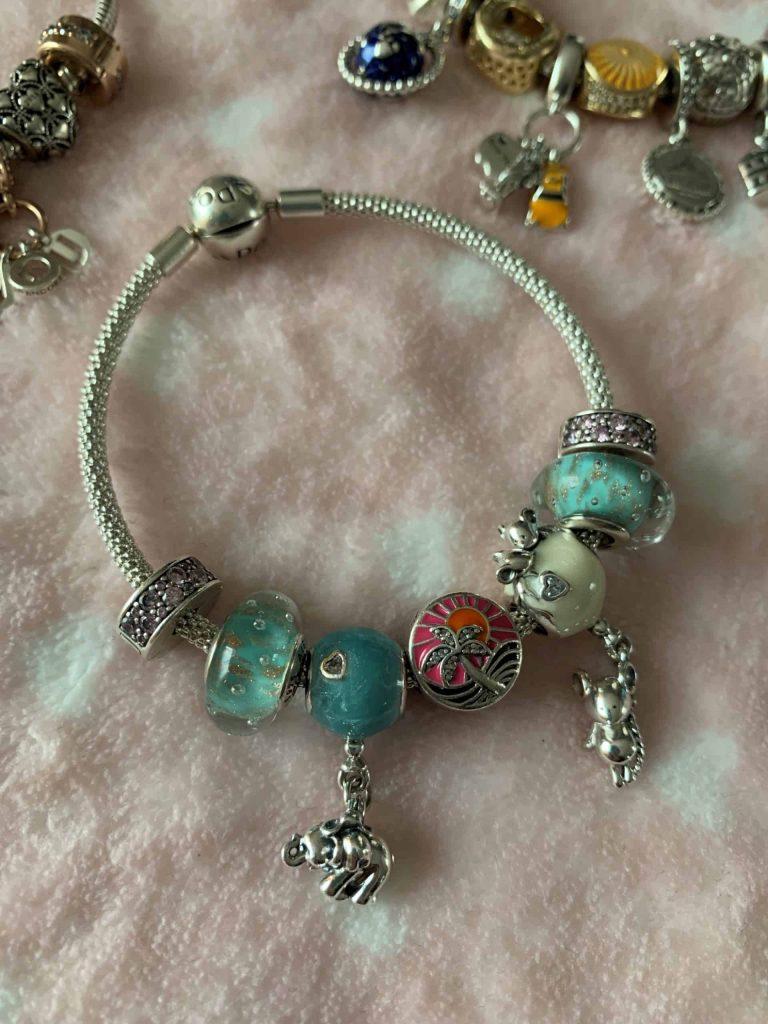 Bracelet bleu et Filleuls