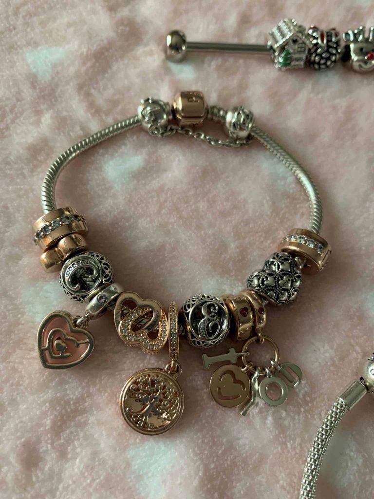 Bracelet Argent et Or Rose