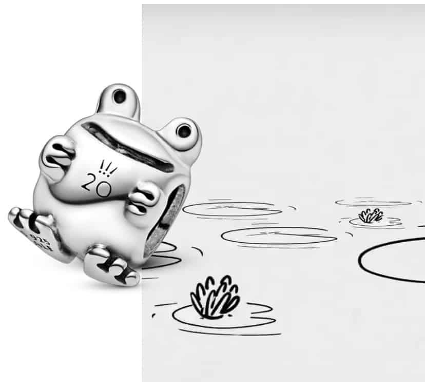 charm grenouille pandora