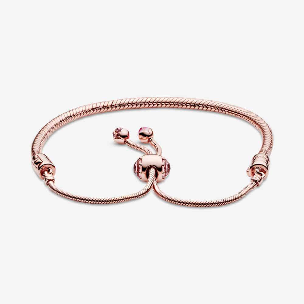 Bracelet Coulissant Maille Serpent Fleur de Pêcher Éclose Pandora Moments 179,00 € - 588093NCCMX