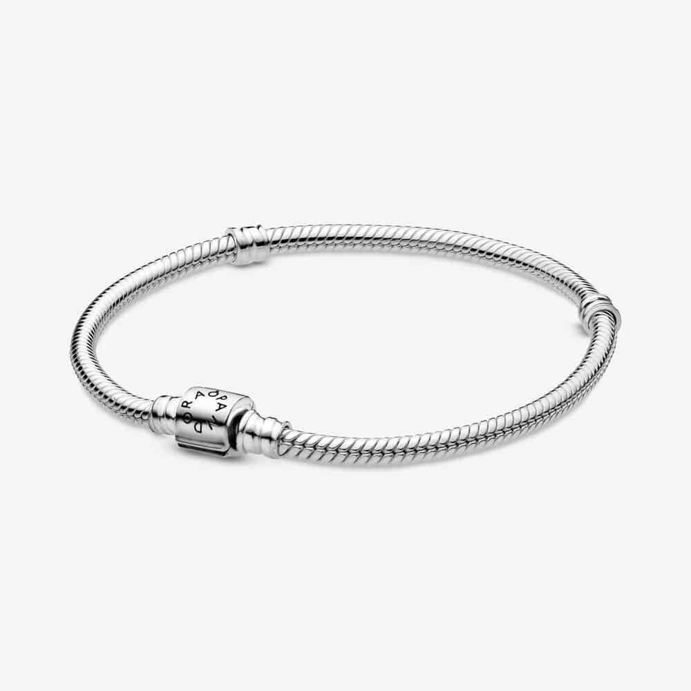 Bracelet Maille Serpent Fermoir Barillet Pandora Moments 59,00 €