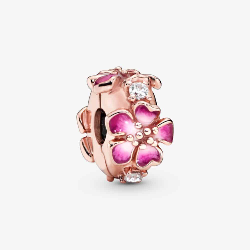 Charm Clip Fleur de Pêcher Éclose Rose 49,00 € - 788099CZ