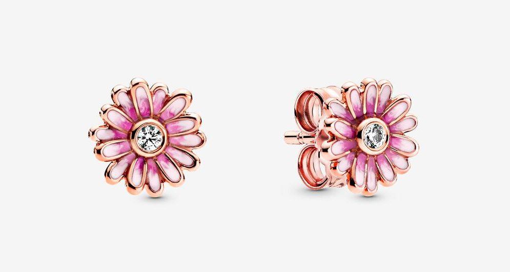 Clous d'Oreilles Marguerite Rose 59,00 €
