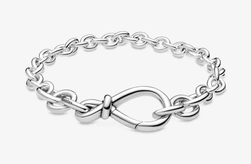 Bracelet Chaîne Nœud Infini Imposant 99,00 €