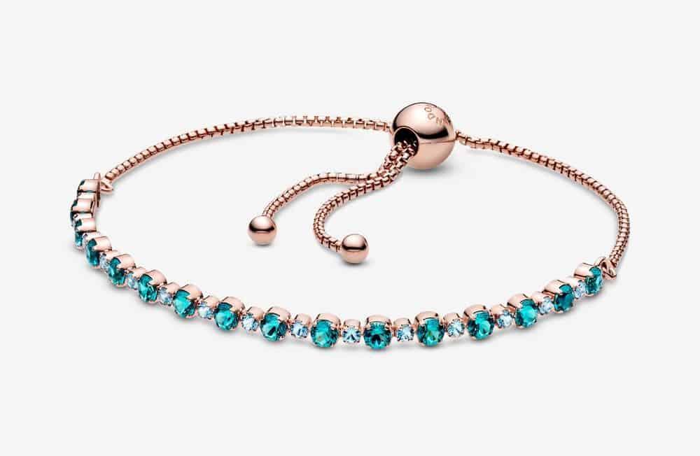 Bracelet Rivière Coulissant Scintillant Turquoise 129,00 €