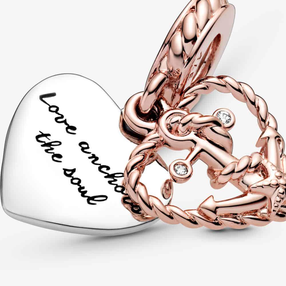 Charm Pendant Corde Cœur & Ancre Amour 59,00 €