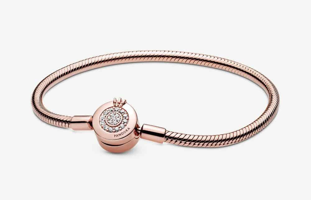 Bracelet Maille Serpent O Couronné Scintillant Pandora Moments 169,00 € - 589046C01