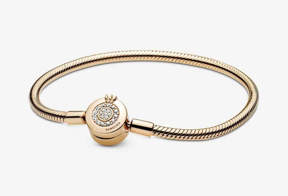Bracelet Maille Serpent Shine O Couronné Scintillant Pandora Moments 199,00 €