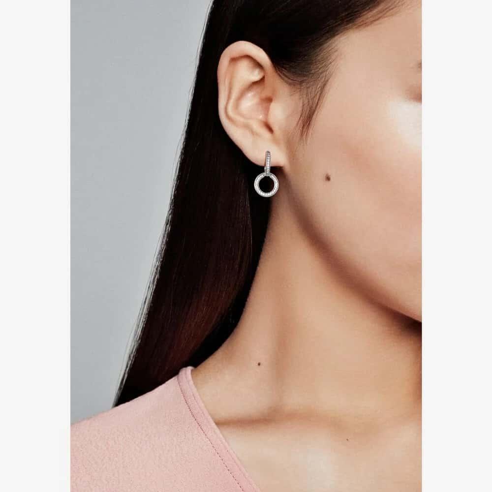 Les boucles d'oreilles portées :