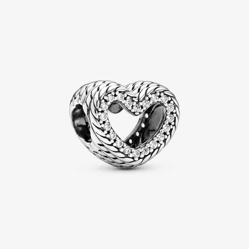 Charm Cœur Ouvert Motif Maille Serpent 39,00 € - 799100C01
