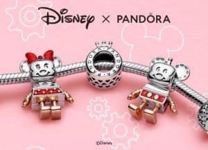 Charm Disney Pandora 20 ans : Mickey et Minnie