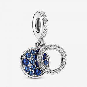 Charm Pendant Double Disque Bleu Scintillant 59,00 € - 799186C01