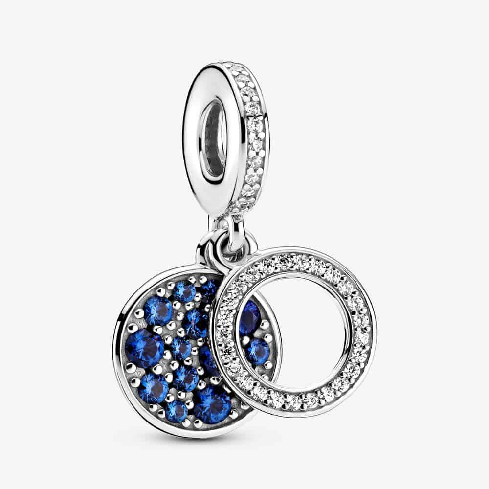 Charm Pendant Double Disque Bleu Scintillant 59,00 € – 799186C01