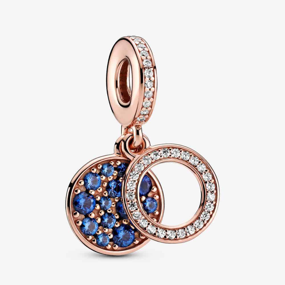 Charm Pendant Double Disque Bleu Scintillant 69,00 € - 789186C01