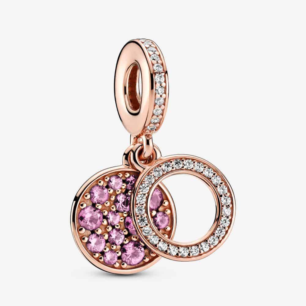 Charm Pendant Double Disque Rose Scintillant 69,00 € - 789186C02