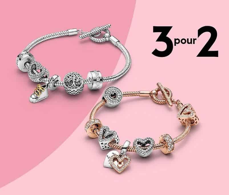 [OFFRE TERMINÉE] Promotion Pandora : offre 3 pour 2 sur bracelets et charms