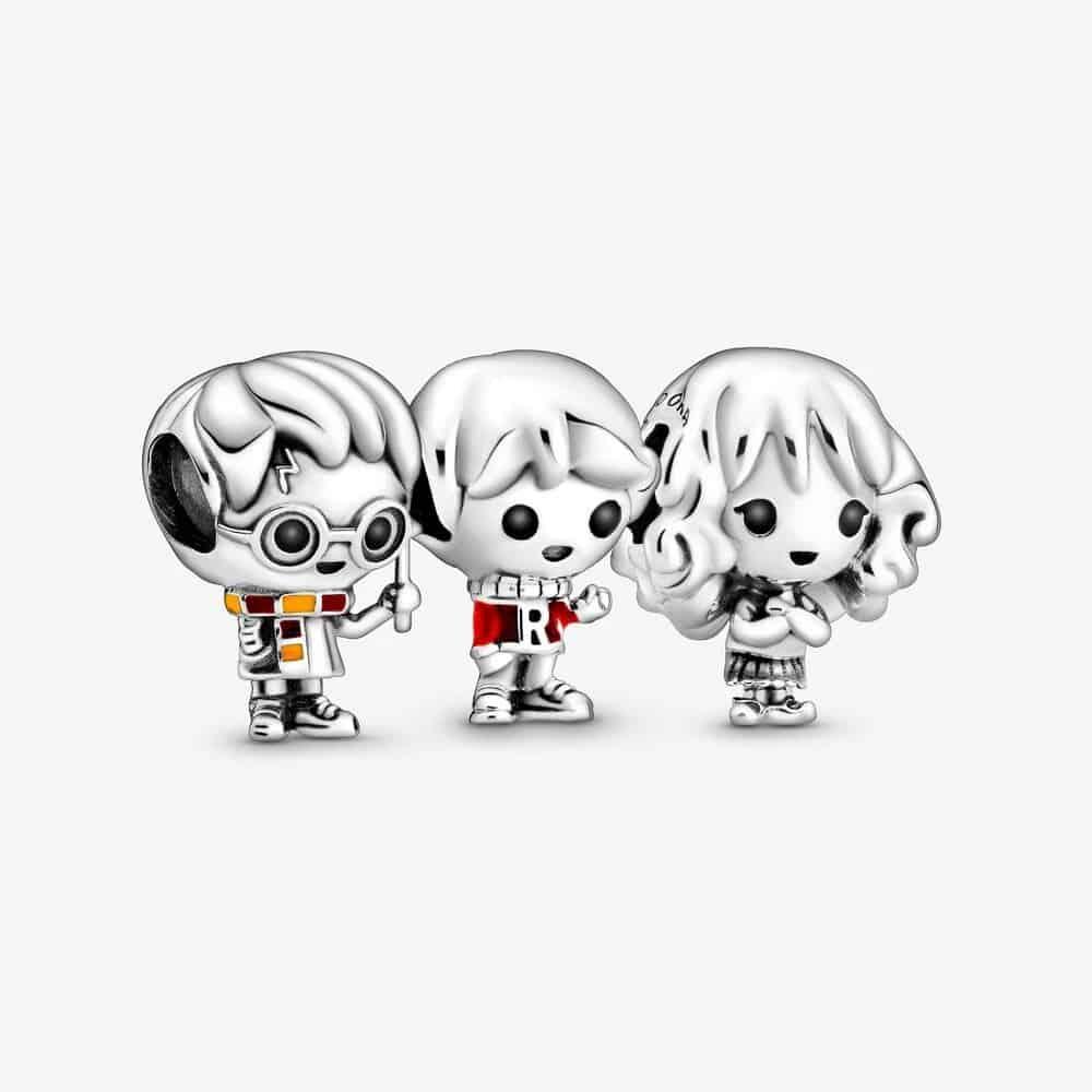 Trio de charms Harry Potter 149€ - Ron 798621C01/ Hermione 798625C01 / Harry 798626C01