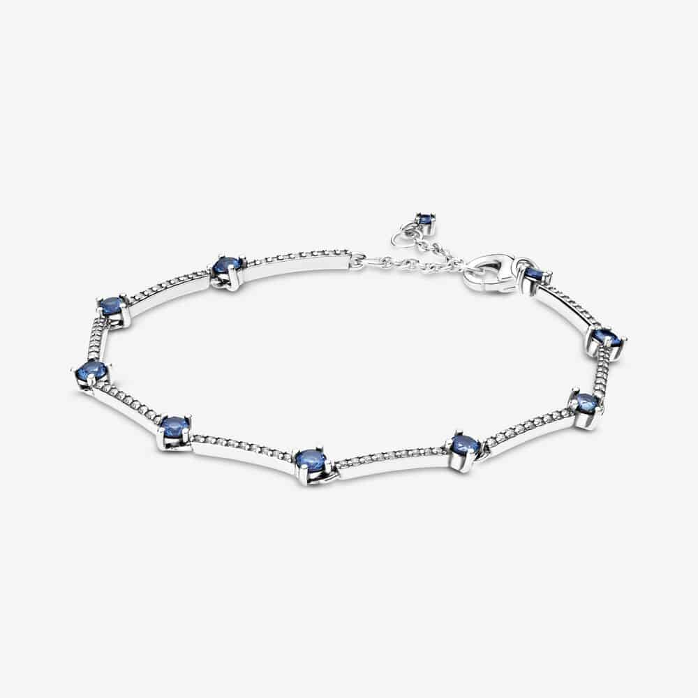 Bracelet Barres Pavé Bleu Scintillant 89,00 € - 599217C01