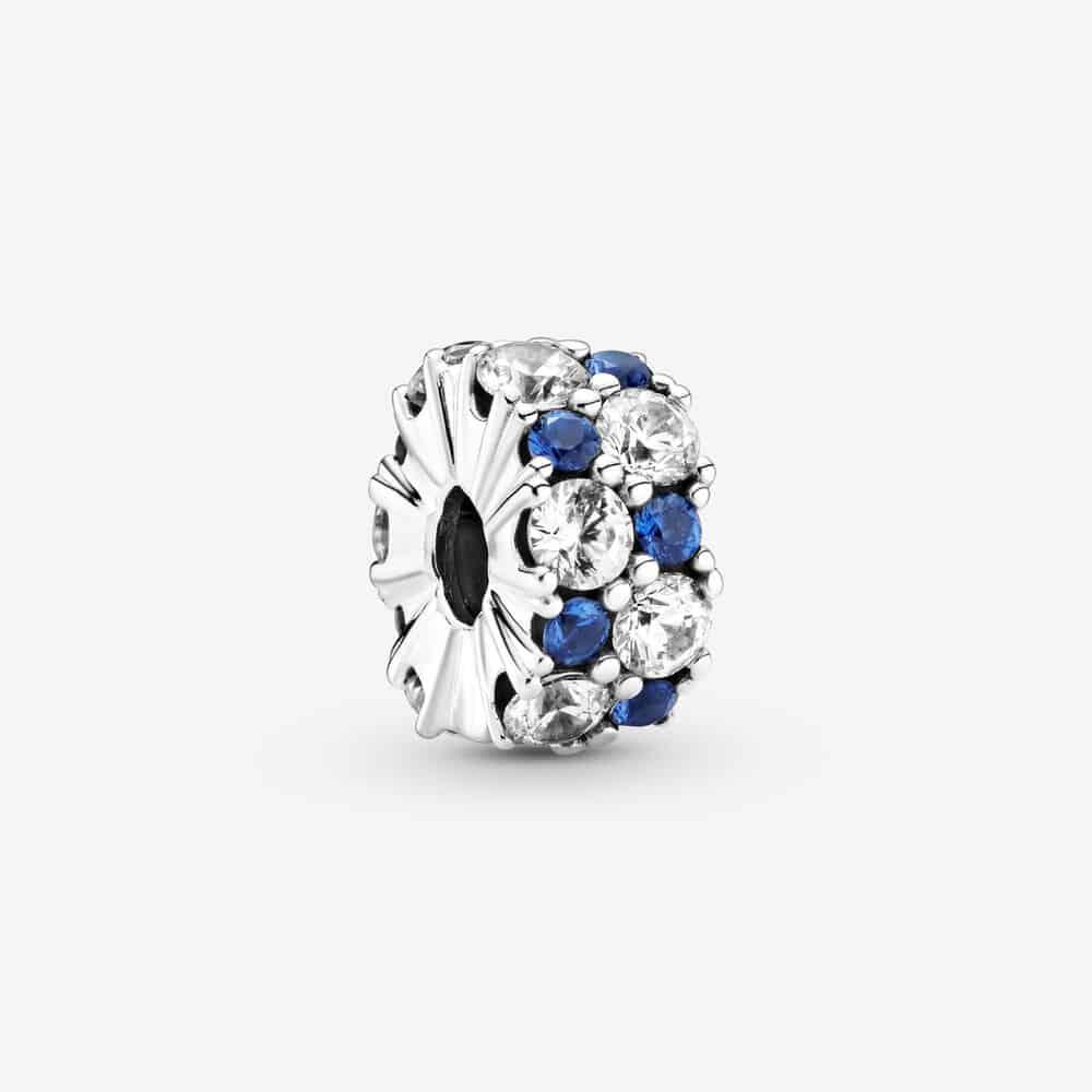 Charm Clip Scintillant Incolore & Bleu 49,00 €