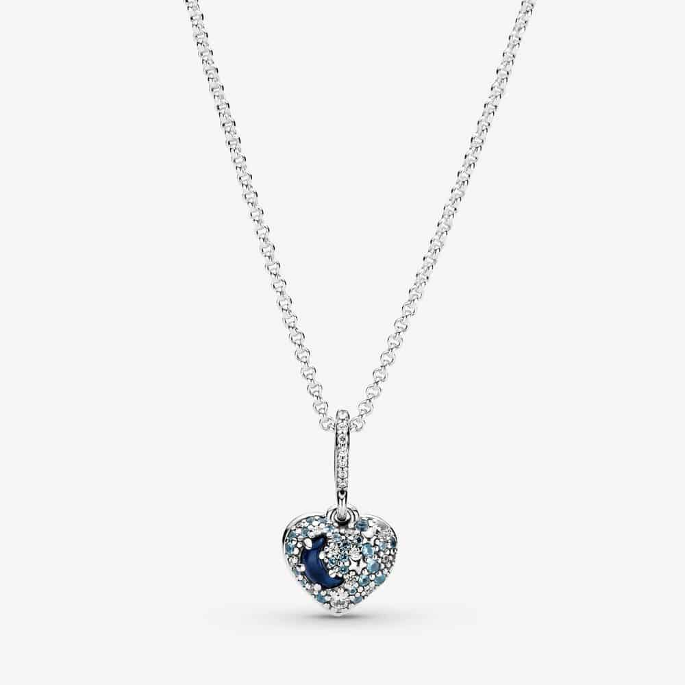 Collier Cœur Scintillant Lune Bleue & Étoiles 99,00 € - 399232C01