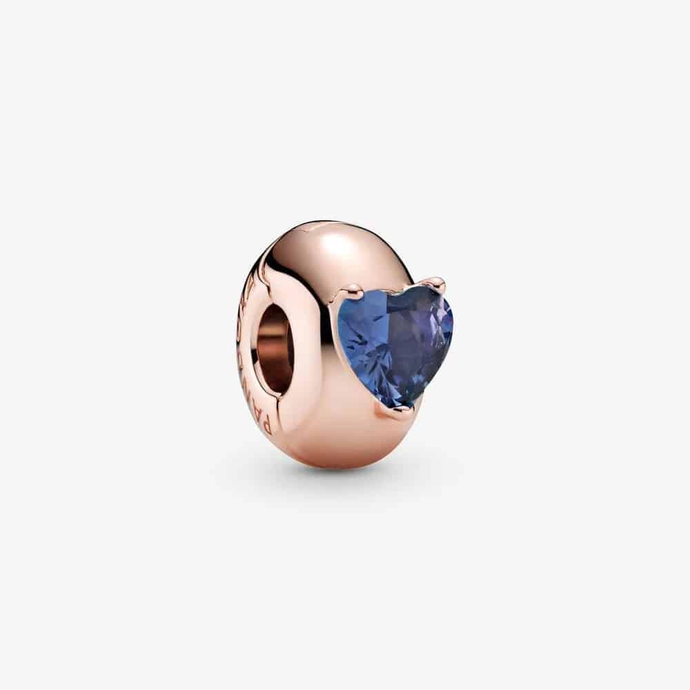 Charm Clip Solitaire Cœur Bleu 39,00 € - 789203C02