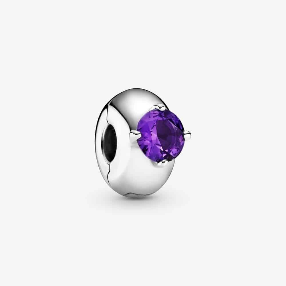 Charm Clip Solitaire Rond Violet 29,00 € - 799204C02