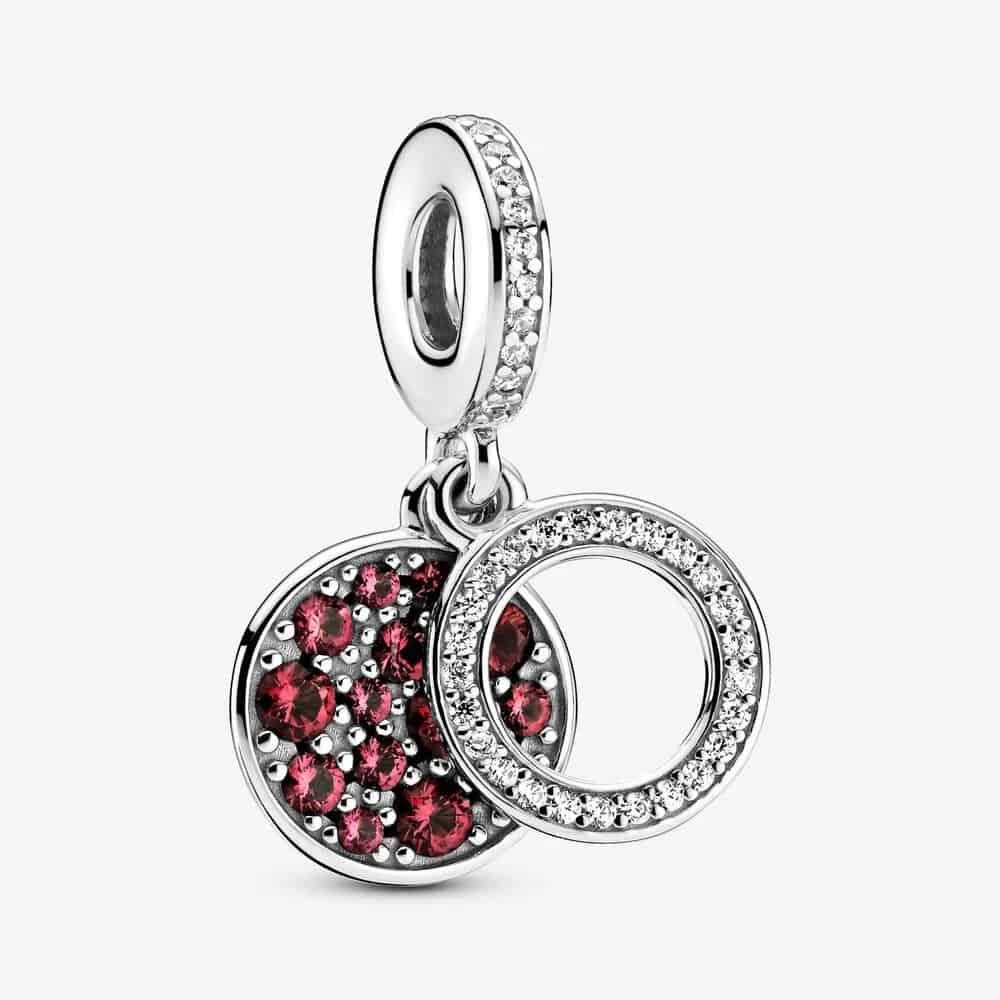 Charm Pendant Double Médaillon Rouge Scintillant 59,00 € - 799186C03