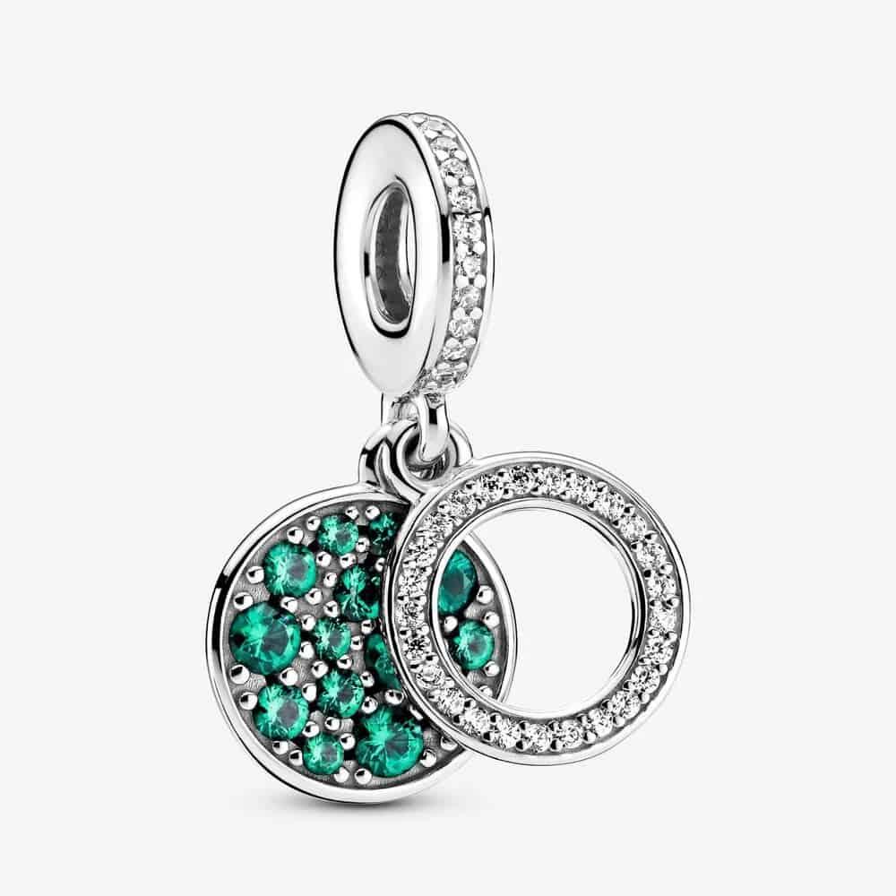 Charm Pendant Double Médaillon Vert Scintillant 59,00 € - 799186C02
