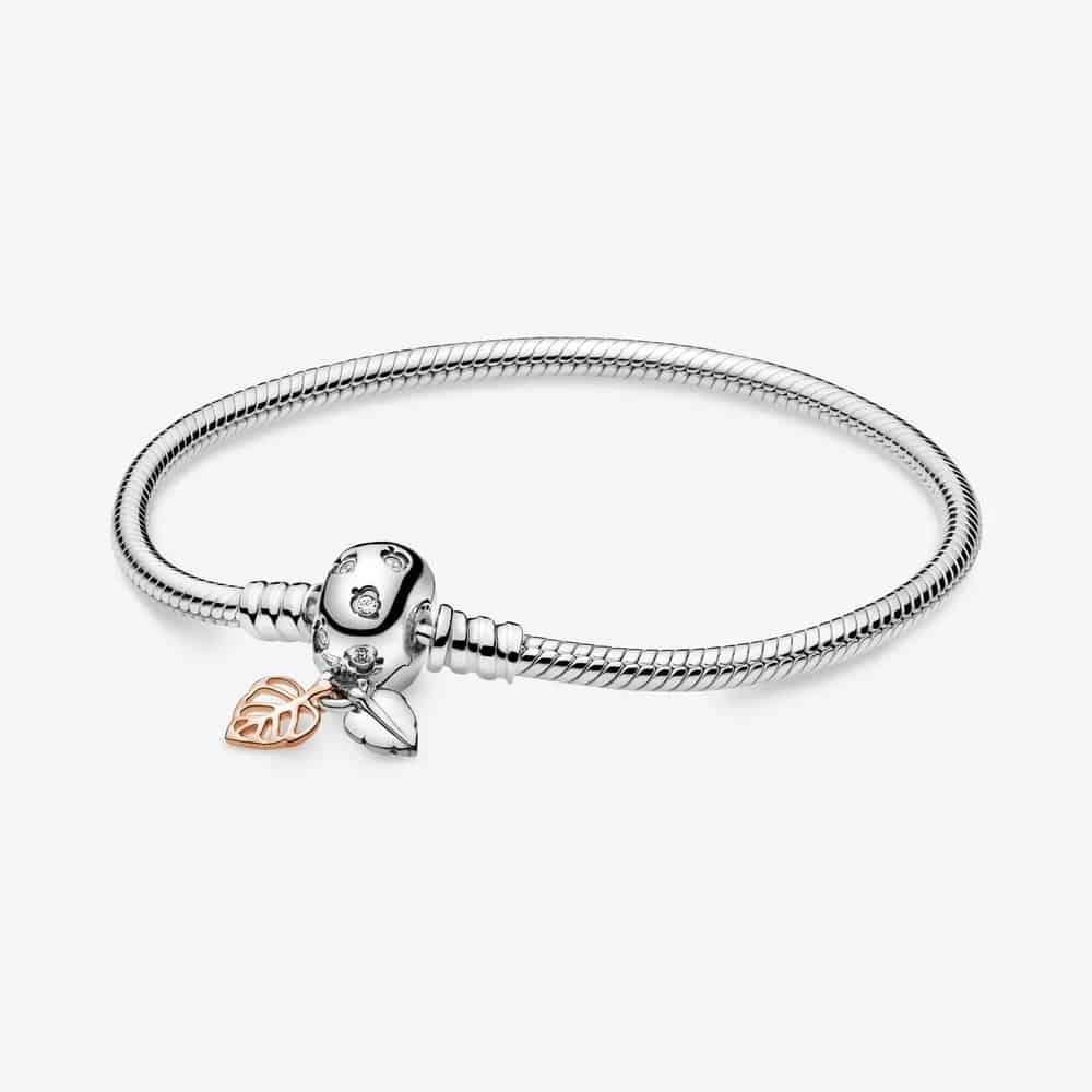 Bracelet Maille Serpent et Feuilles Pandora Moments 79,00 € -588333CZ