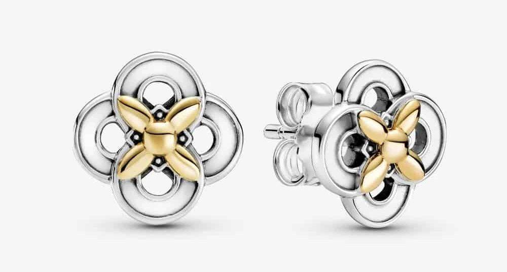 Clous d'Oreilles Fleur Bicolores 89,00 € – 299349C00