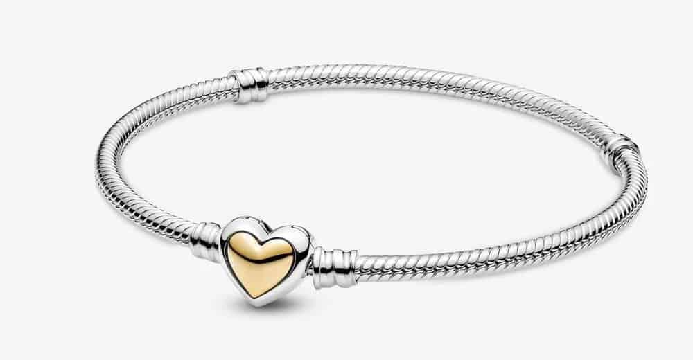Bracelet Maille Serpent Fermoir Cœur Doré Bombé 119,00 € – 599380C00