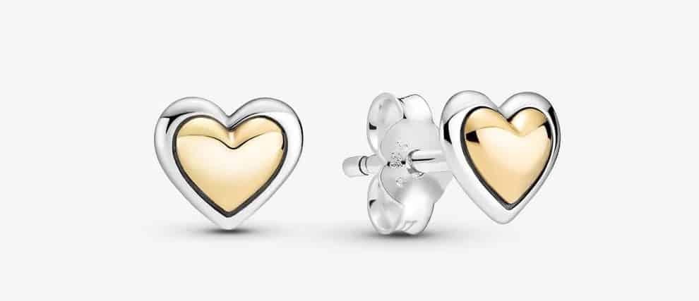 Clous d'Oreilles Cœurs Dorés Bombés 79,00 € – 299389C00