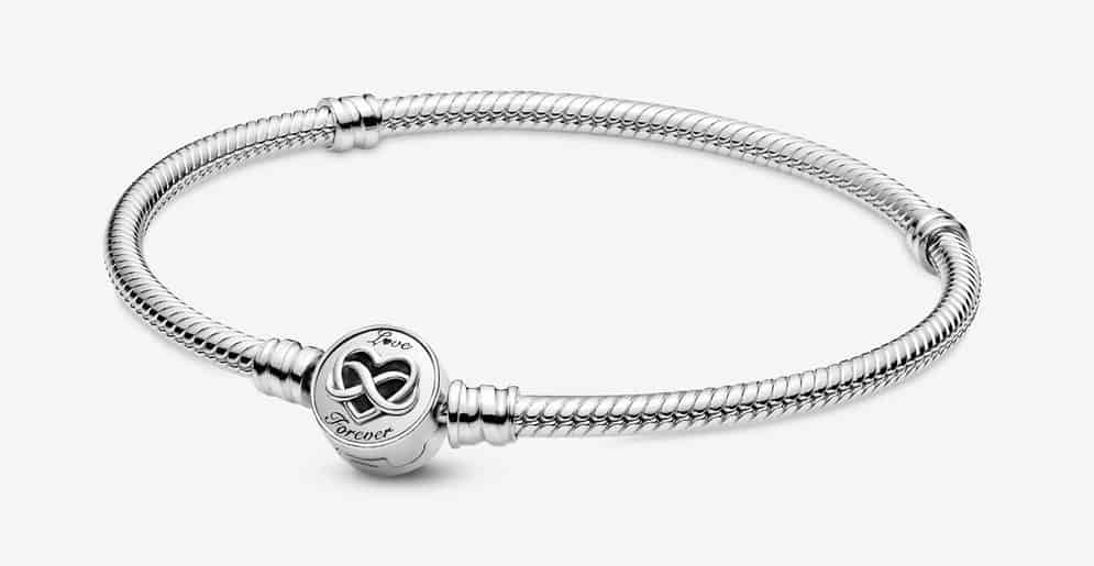 Bracelet Maille Serpent Fermoir Infini Cœur Pandora Moments 69,00 € - 599365C00