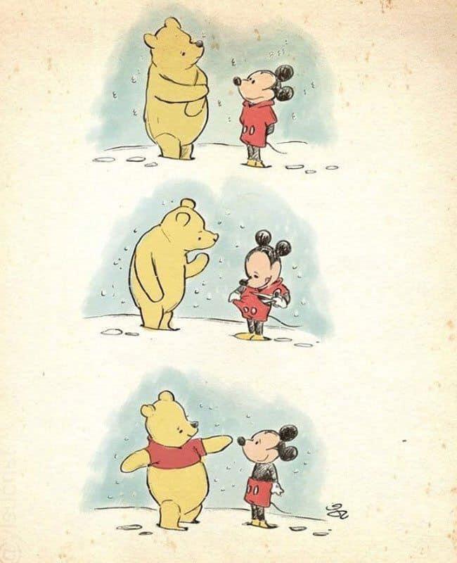 L'histoire de Mickey et Winnie d'ourson