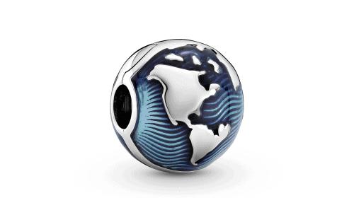Charm Clip Bleu Globe En Argent 39€ - 799429C01