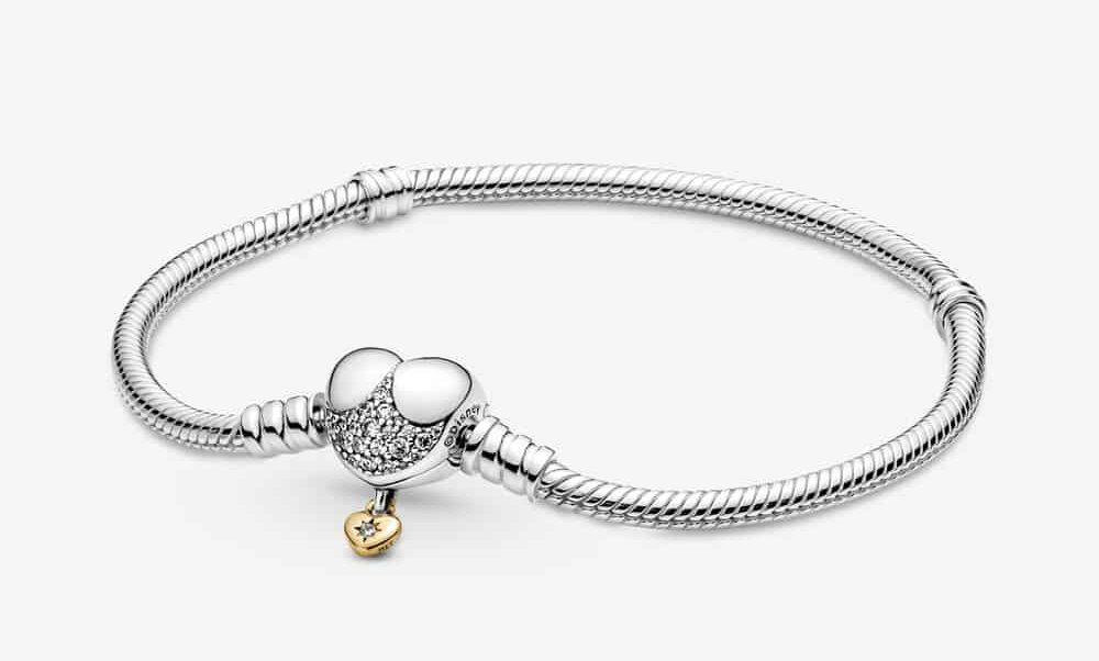 Bracelet Maille Serpent Fermoir Cœur Disney Pandora Moments 89,00 € – 569563C01