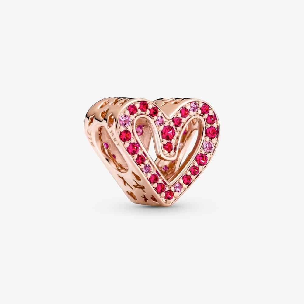 Charm Esquisse de Cœur Rouge Rubis & Rose Scintillant 59,00 € - 788692C02