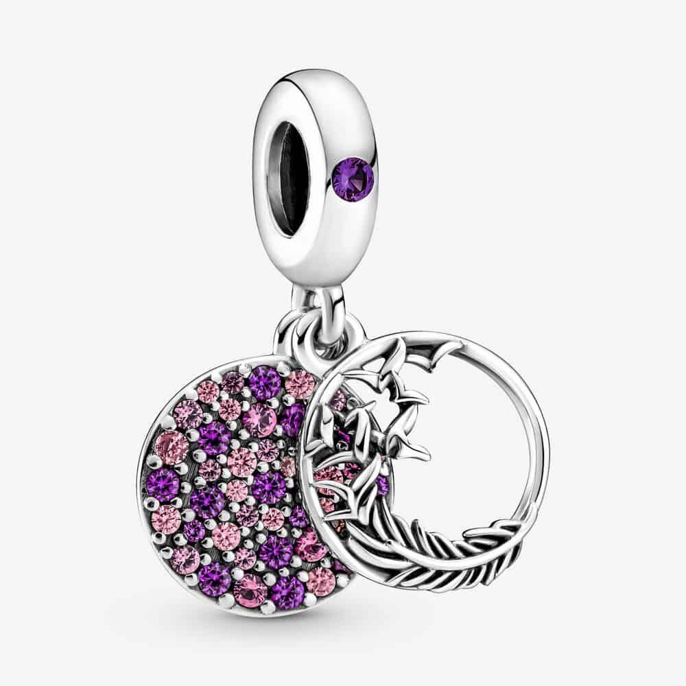 Charm Pavé Plume violette - 799561C01