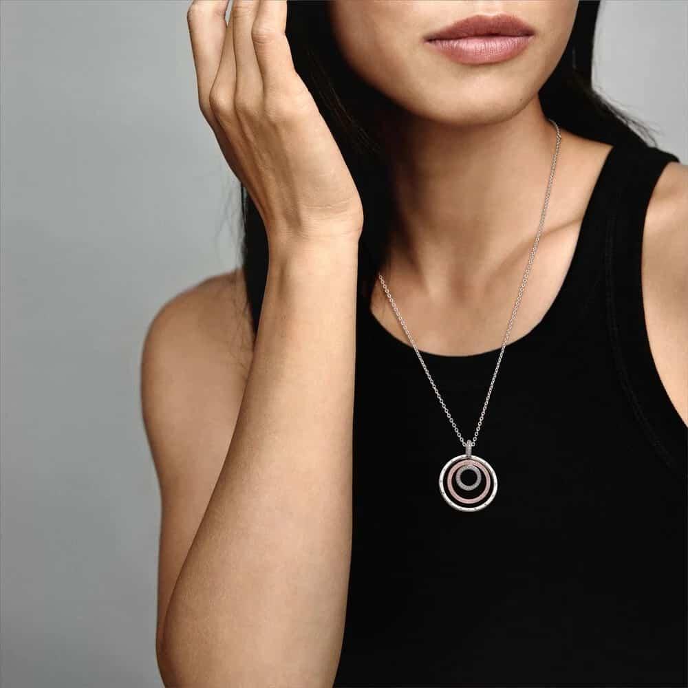 Le collier Triple anneau version long